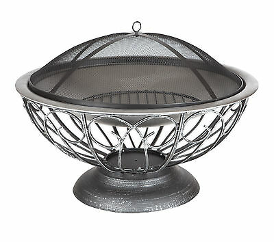 Urn Fire Pit Stainless Steel Attractive Urn Base Dome Fire Screen Pewter Finish