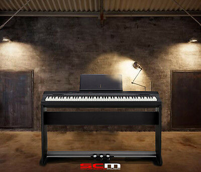 Casio Privia Px160Bk Digital Piano 88 Weighted Keys Usb Matching Stand +3 Pedals