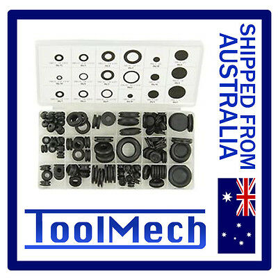 180Pc Rubber Grommet Kit Seal Sealing Assortment Free Shipping