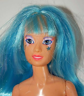 Jem and the Holograms Aja Doll with Blue Hair Nude