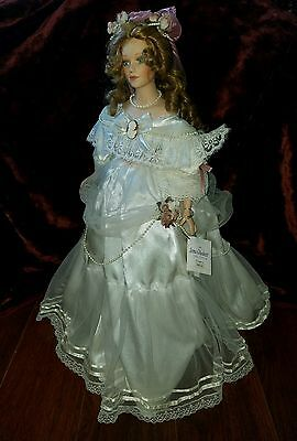 """IRMA GHEDUZZI COLLECTION PORCELAIN DOLL Monica Grace 22"""" Tall"""