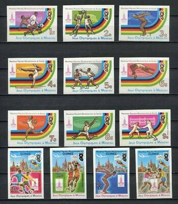 27530) GUINEA 1982 MNH** Nuovi** Olympic G. Moskow 13v imperforated