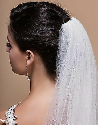 Wedding Bridal Veil With Comb 1 Tier Off White Cathedral Soft Tulle 3m Long