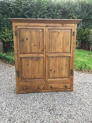 Antique Pine And Elm Housekeepers Cupboard / Wardrobe / Larder Unit