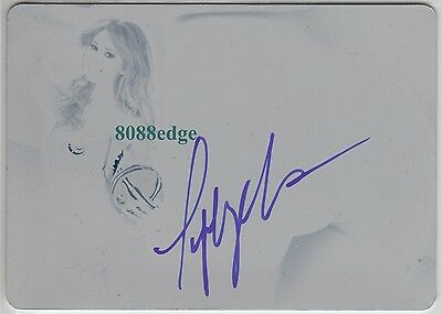 2012 Benchwarmer Soccer Auto: Tiffany Toth 1/1 Autograph Printing Plate Playmate