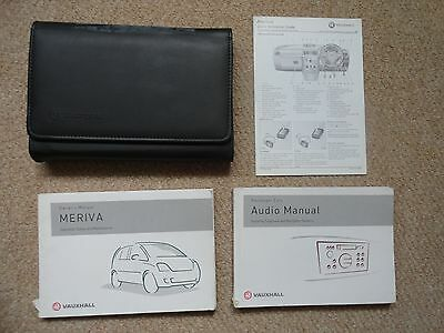 Vauxhall Meriva Owners Manual, Audio Manual, Wallet and related literature