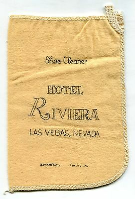 "Old ""Hotel Riviera"" Souvenir: Cloth ""Shoe Cleaner"" [Las Vegas]"