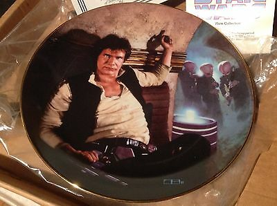 Star Wars Han Solo Ceramic Plate- FIRST SERIES! Hamilton collection certificate