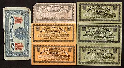 Lot Of 15*united States Cigar Stores Company Coupons & Certificates*1/2 Cent-25C