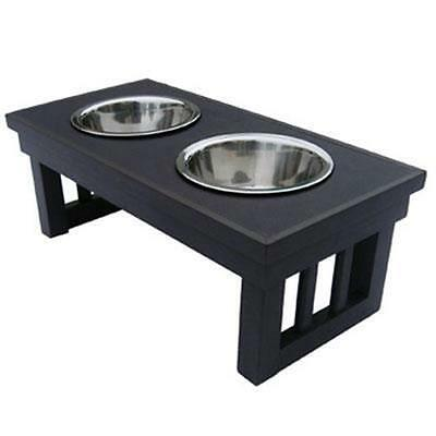 New Age Pet Dog Bowl EHHF202M Double Raised Med Esp