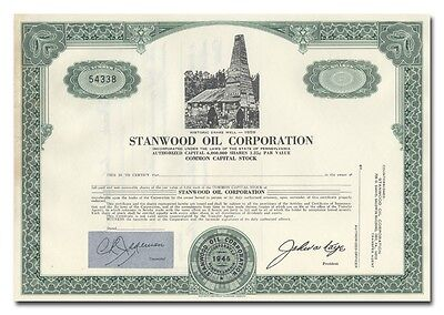Stanwood Oil Corporation Stock Certificate