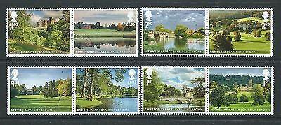 Great Britain 2016 Landscape Gardens Set 8 In Pairs Fine Used