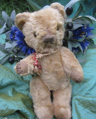 """♫ PELUCHE Vieil OURS """"MiniBal"""", Teddy Bear Antique, COLLECTION d'OURS Anciens ♫"""