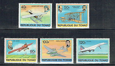 Chad Aircraft set of 5 Unmounted Mint