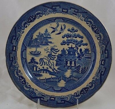 """Antique Ironstone Blue Willow Plate Dinner 10 1/4"""""""