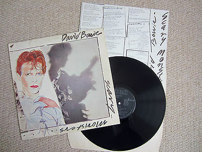 DAVID BOWIE ~ Scary Monsters ~ ORIGINAL UK RCA LP + LYRICS INSERT ~ BOWLP2 ~ VG+