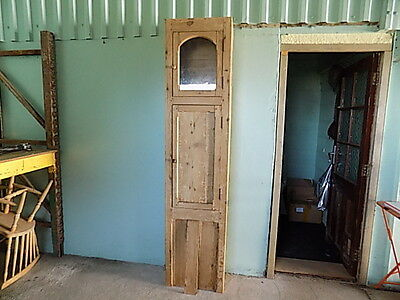 Antique French ~Solid Pine~Clock Case Cupboard~Unusual