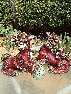 ANTIQUE CHINESE FOODOGS QING DYNASTY. ca. 1900