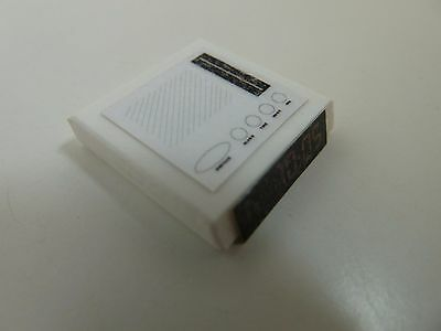 Dolls House Miniature 1.12 Scale Bedroom Lounge Clock Radio