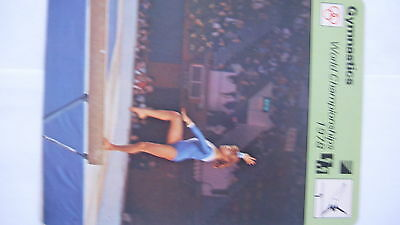 Rare Sportscaster Rencontre Collectable Card Gymnastics World Championships 1978