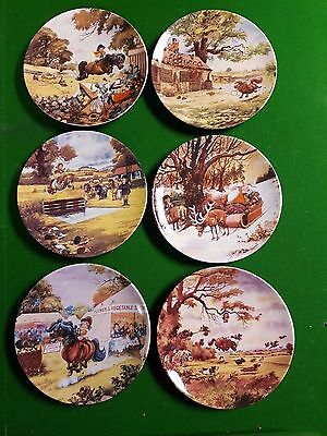 Collection of 6 Thelwell's Ponies Plates from Royal Worcester & Danbury Mint