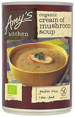 NEW Amys Kitchen Mushroom Soup 400 g (Pack of 6)