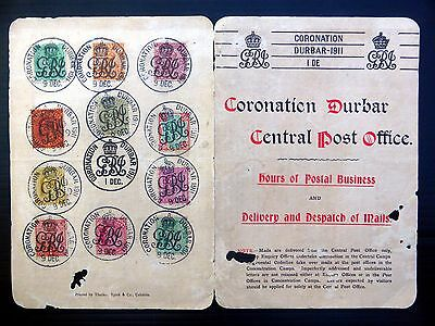 INDIA 1911 Durbar Coronation on Special Folder with 11 Stamps FP8181