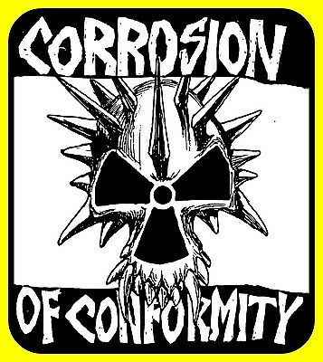 Classic Corrosion of Conformity STICKER. Anarchy for your bong. 2.75 x 2.5 inch