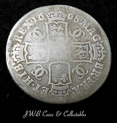 1668 Charles II Silver Shilling Coin