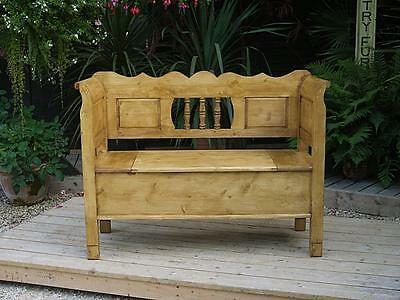 Gorgeous! Old Antique Style Pine Hungarian Box Bench/settle/ Toy Storage