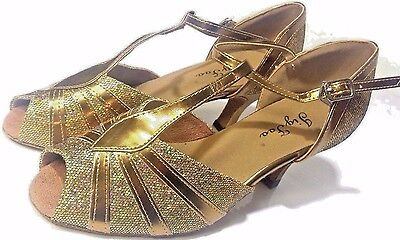 Jig Foo Sandals Open-toe Latin Salsa Tango Ballroom Dance Shoes US 6 M NEW
