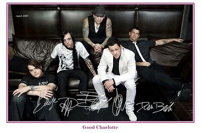 4x6 SIGNED AUTOGRAPH PHOTO PRINT OF GOOD CHARLOTTE #3