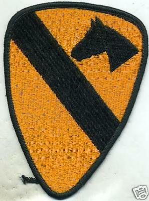 US Army 1st Cavalry Color Patch Iron On