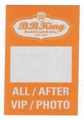 B.B. KING backstage pass tour SATIN AFTER VIP PHOTO ALL ACCESS cloth