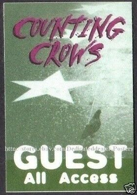 COUNTING CROWS backstage pass Tour Satin Cloth GUEST AA