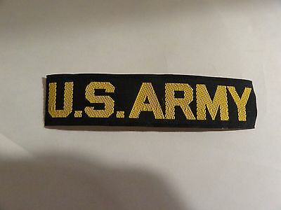 Military Patch Us Army Name Tape Older Era Black And Yellow Very Hard Find Rare