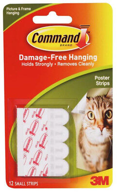 3M Command Small Poster Strips Damage Free 12pk