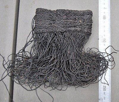 Very old Papua New Guinea tribal armband body woven ornament textile
