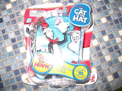 Dr Seuss Cat In The Hat & Fish Keychain Brand New Very Rare