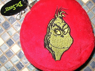 Dr Seuss Grinch Who Stole Christmas & Max The Dog Embroidered Purse Brand New