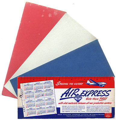 Air Express * Patriotic * Red White & Blue * 1943 * WWII * Blotter