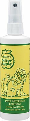 Grannicks Bitter Taste Discourage Dog Safe Chew Deterrent Apple Spray  8 oz