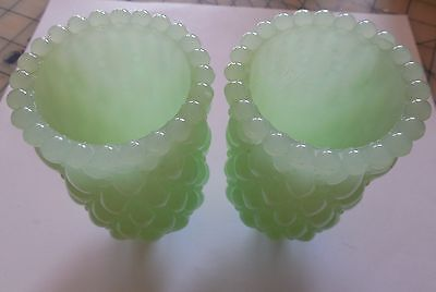 Pair of green wall sconce cups