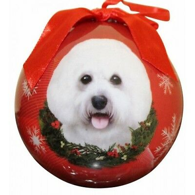 Bichon Frise Dog Pet Christmas holiday ball Ornament Love Your Dog Gift boxed