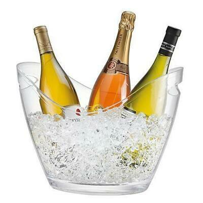 Wine Bucket, Clear Polycarbonate, 6.8L, Serroni, Bottle Ice Cooler, Party