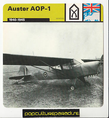 AUSTER AOP-1 Airborne Observation Post WW2 PLANE CARD