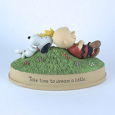 PEANUTS Charlie Brown & Snoopy - Take Time To Dream A Little - Hallmark Figurine