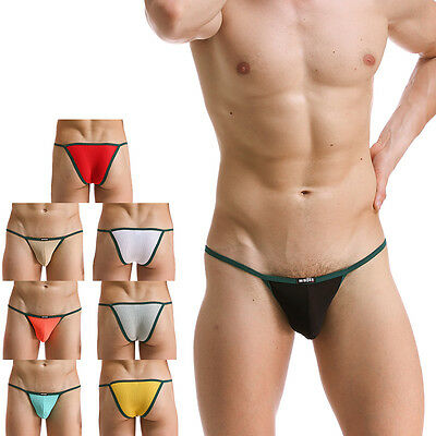 Sexy Men Gay G-string Thong Pouch Bulge Boxer Briefs Man Underwear Underpant