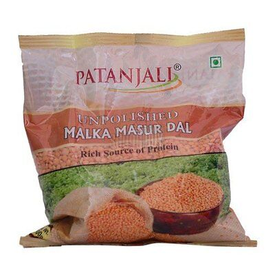 Patanjali Red Lentils (Masoor) Pulses, 500 Gm