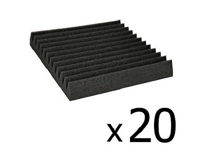 NEW 20x Studio Home Theatre Sound Audio, Wedge Shape Acoustic Foam Black 30x30cm